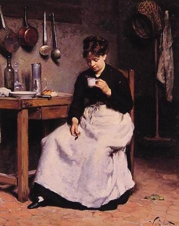 A Cup of Coffee   painting by Victor Gabriel Gilbert