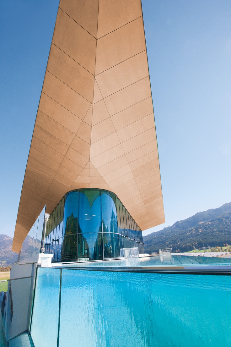 Skylinepool - front view at Tauern Spa, Zell am See-Kaprun, Austria