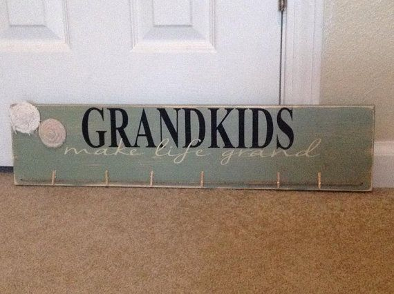 Grandkids picture holder sign by VeronicasVintiques on Etsy