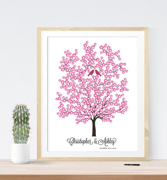 Etsy の Wedding guest book alternative tree by MissDesignBerryInc