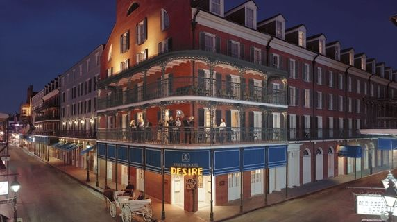 Best Bourbon Street hotel is Royal Sonesta.  Within steps of great entertainment and awesome food!