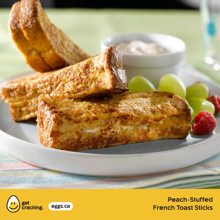 Peach-Stuffed French Toast Sticks Eggs.ca #GetCracking #Eggs