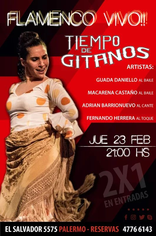 NOCHE DE 2X1 EN ENTRADAS!!!  Cena 21:00 hs - Show 22:30 hs || Reservas 4776 6143