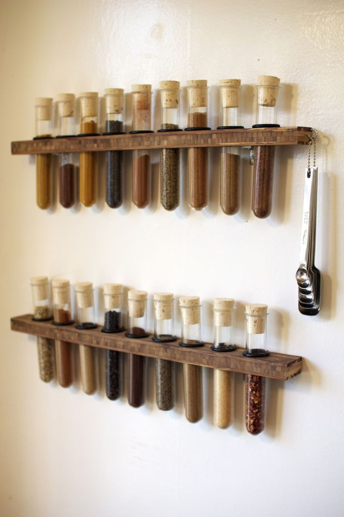 test tube spice rack / instructables oh yes please but I would need about 1000 :p: Test Tubes, Ideas, Mad Scientist, Spiceracks, Kitchen, Tube Spice, Spice Racks, Spices