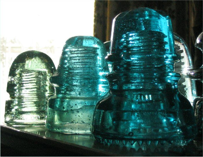 256 best images about glass insulators antique vintage on for Glass telephone pole insulators