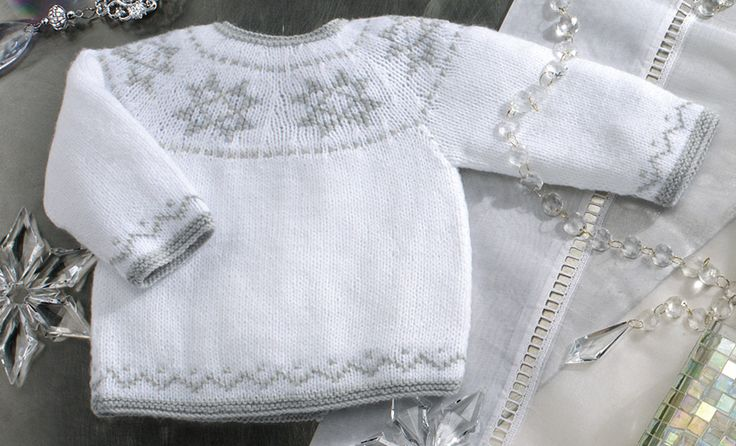 Book Special Peques 5 Autumn / Winter | 61: Baby Sweater | White / Light grey