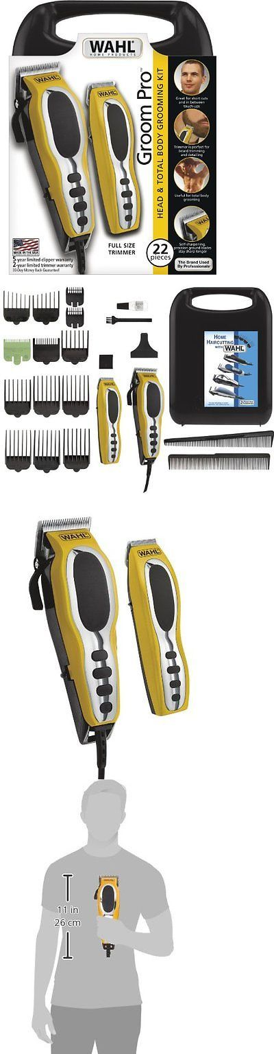 Shaving: Mens Grooming Kit Pro Clipper Electric Body Trimmer Hair Cut Beard Head Shaver BUY IT NOW ONLY: $33.52