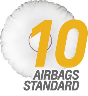 The Chevrolet Cruze comes with 10 standard airbags.