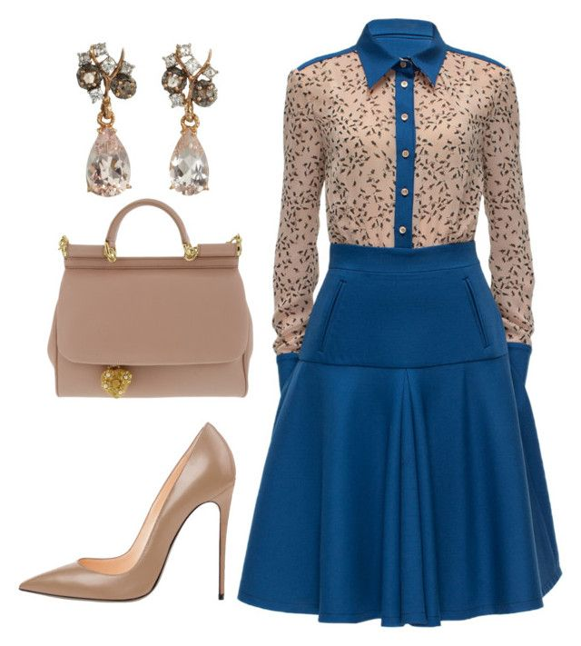 """Office Wear"" by arta13 ❤ liked on Polyvore featuring Lattori, Dolce&Gabbana and Federica Rettore"