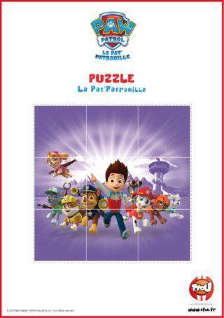 Et si tu faisais un puzzle ? Imprime et découpe vite le puzzle de la Pat'Patrouille! Le sais-tu? En imprimant gratuitement ce puzzle de tes héros TFou tu pourras gagner plein de Tfizz ainsi qu'un badge Paw Patrol!