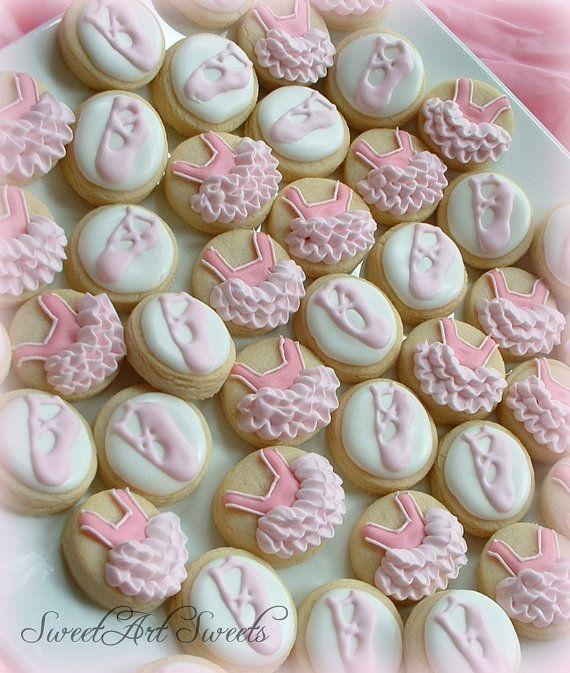 Ballet mini cookies 2 dozen by SweetArtSweets on Etsy, $28.50