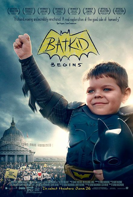 One hero. One wish. Millions inspired. Experience one of the most profound and moving stories of a generation: ‪#‎BatkidBegins‬ in select theaters June 26!