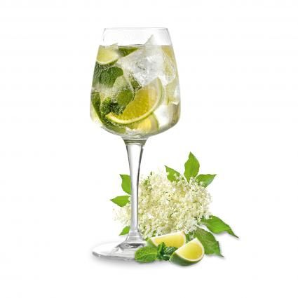 Hugo Cocktail:    Prosecco,  Splash of elderflower syrup to taste,  A few fresh peppermint or spearmint leaves rubbed to release their aromatic oil, Top with a slice of lime,  Optional – add a splash of sparking water to dilute the alcohol if desired