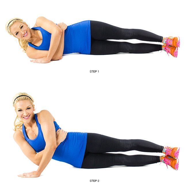 Blast Arm Jiggle with 5 Best Triceps Exercises - 5) Side Pushup: Ditch that resistance band and lay on the ground on your side. Hug your tummy with one hand and push up off the ground with your other. You'll feel the burn in no time.