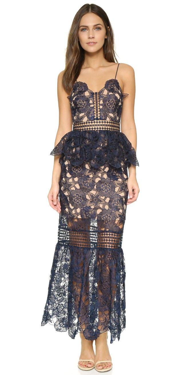 Self Portrait Amarylis Lace Maxi Dress | SHOPBOP