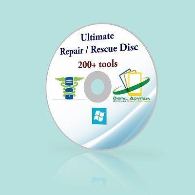 WINDOWS XP VISTA 7 8 PRO BOOT CD PC DIAGNOSE REPAIR Toshiba IBM Acer Dell HP LG