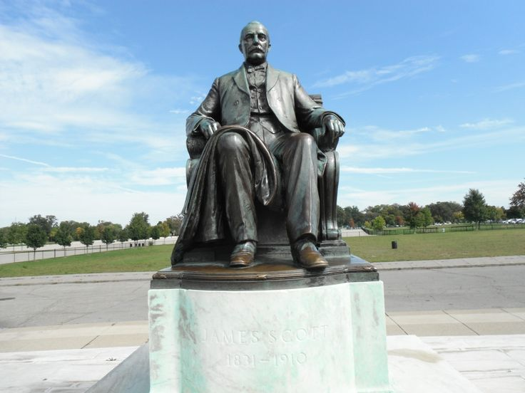 Belle Isle - James Scott Bronze Statue at Scott Fountain