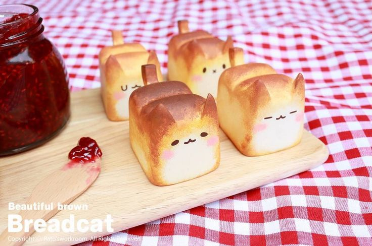 Mini cat breads from Korea