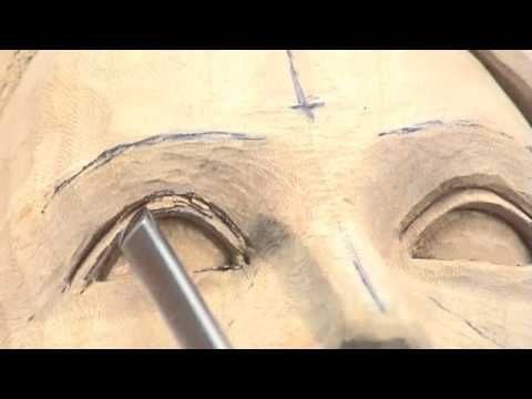 Carving a Female Head - Woodcarving Teaching DVD by Ian Norbury - Clip