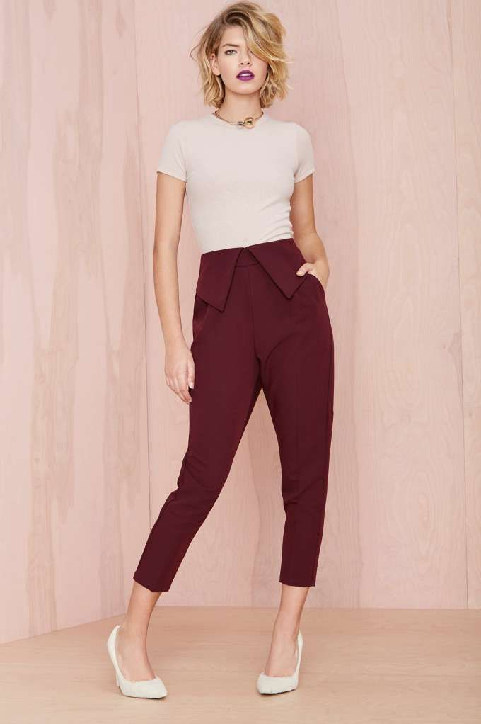 Nasty Gal Fold Ya So Trouser | Shop All at Nasty Gal