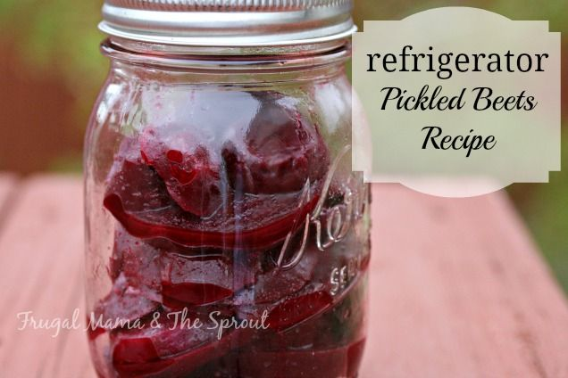 Refrigerator Pickled Beets