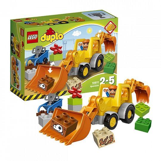 Купить Конструктор Lego Duplo 10811 Лего Дупло Экскаватор-погрузчик в интернет-магазине Toy.ru