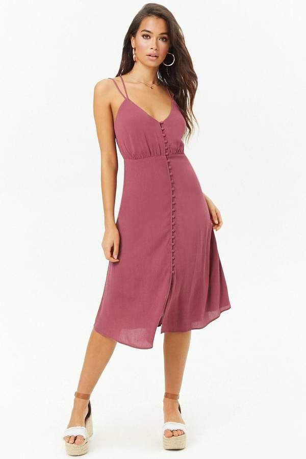 21bb90aa93891 Forever 21 Button-Front Cami Dress