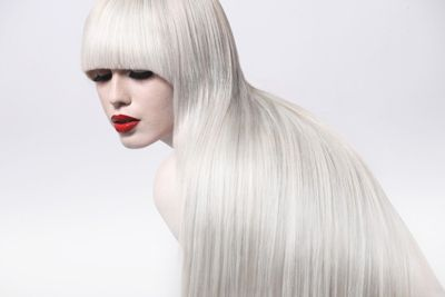 A fabulous haircut with long, thick, shiny hair...