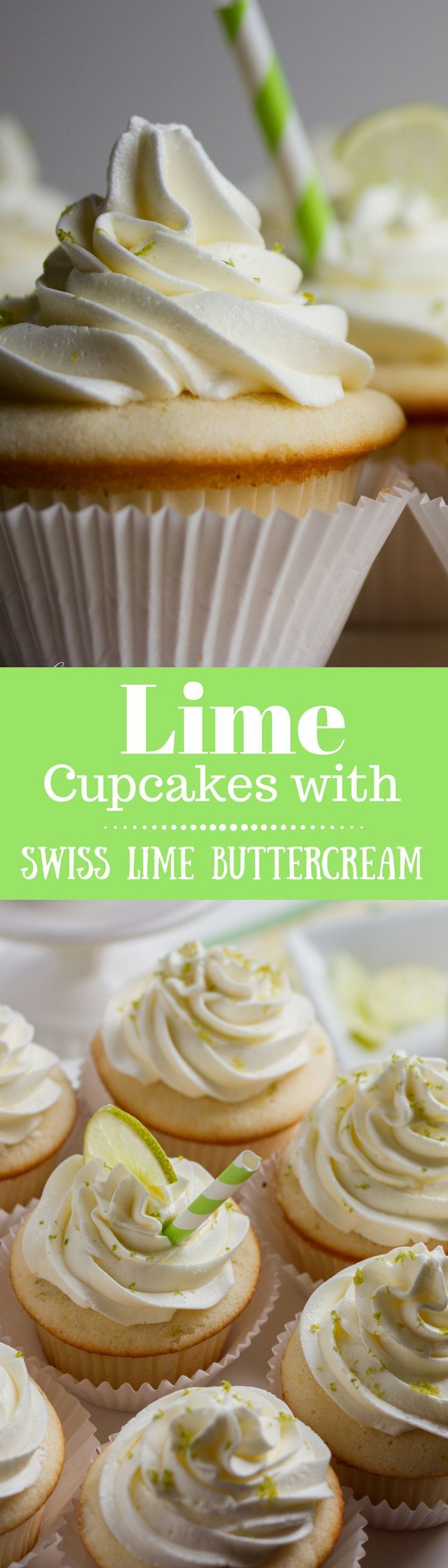 Tender white Lime Cupcakes with Swiss Lime Buttercream and just the right amount of zing from the lime juice.  http://www.savingdessert.com