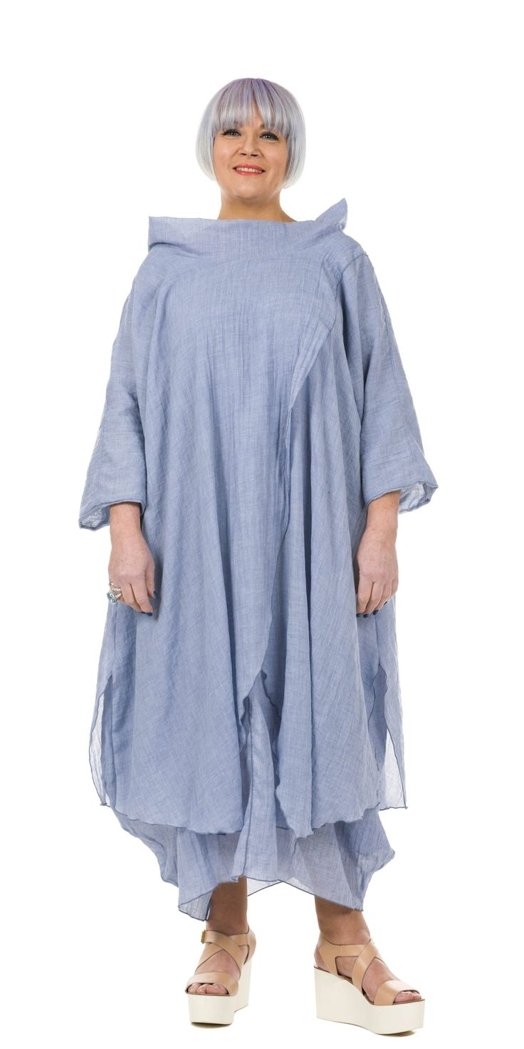 Yiannis Karitsiotis Chambray Crossover Dress |idaretobe UK stockist