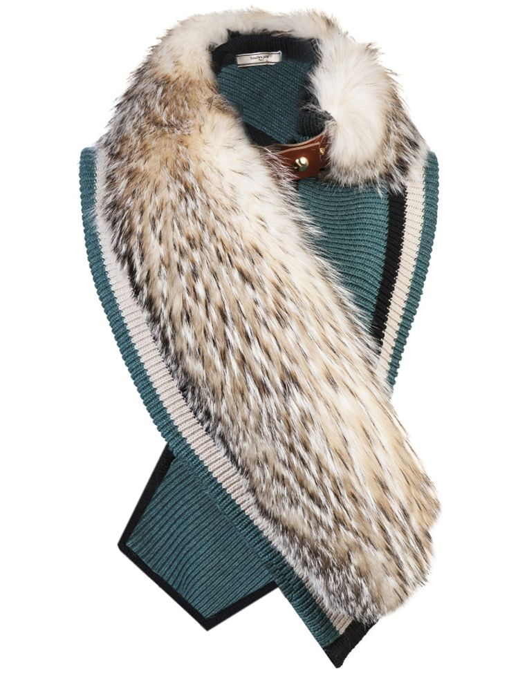 badger fur scarf - #chictothenextlev