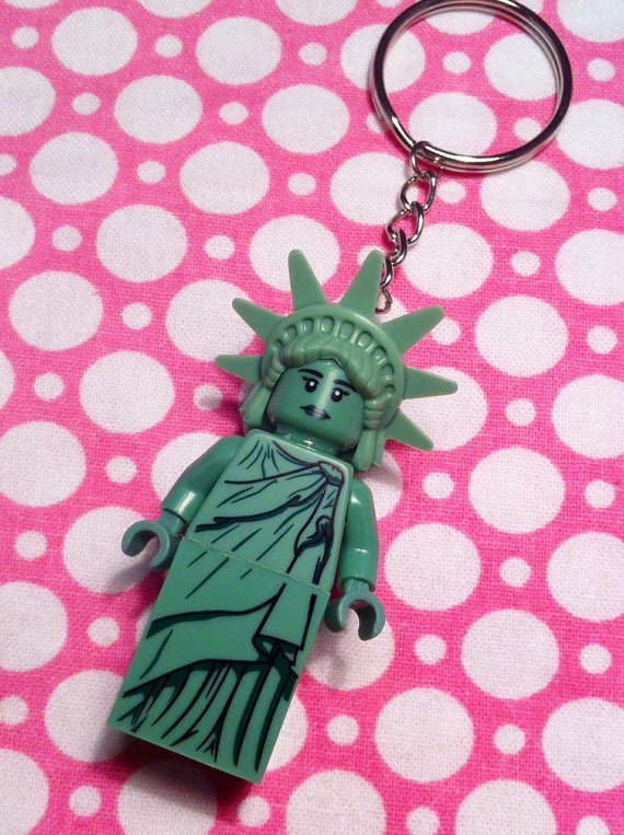 Lego Statue of Liberty Keychain