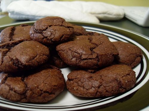 Brownie Mix Cookies- But I am going to make these with  1 box of brownie mix and 1 diet coke. Bake according to directions!