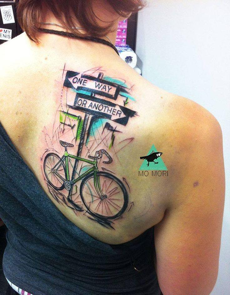 Mo Mori, tattoo artist Kim wilde, Tätowieren, Fahrrad