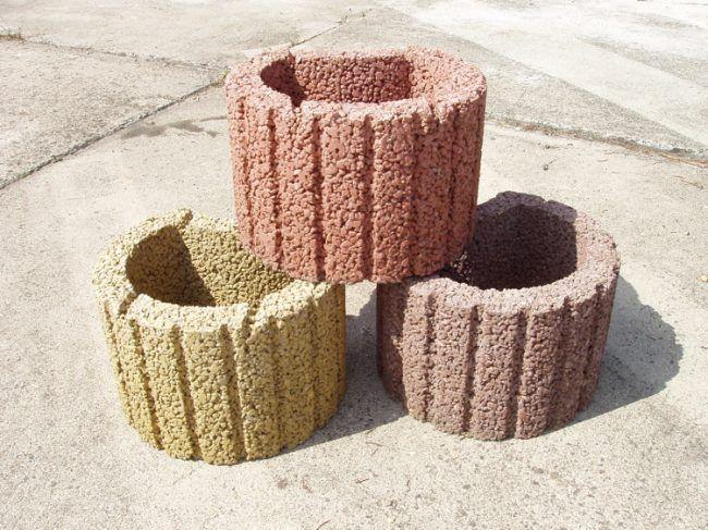 Pflanzringe setzen -gartengestaltung-oval-ordnen-bausteine-material