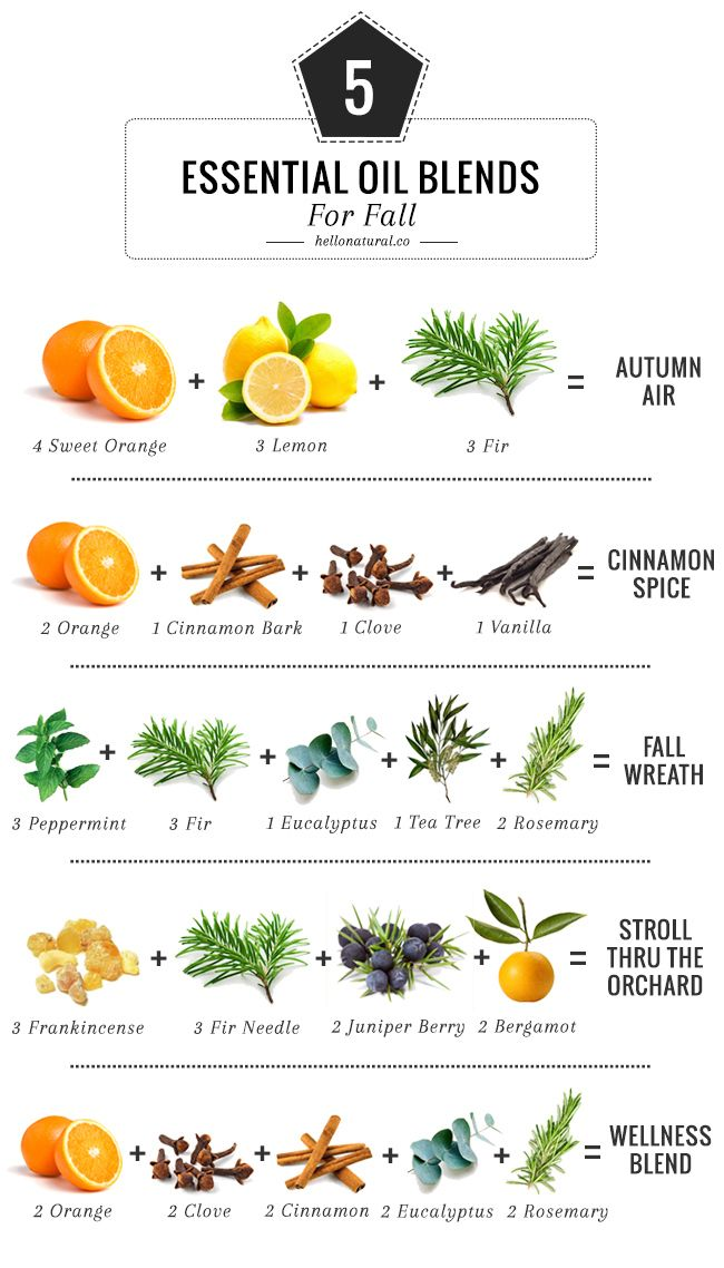 5 Essential Oil Blends To Make Your House Smell Like Fall | HelloNatural.co