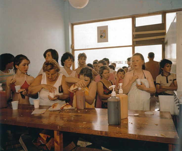 Martin Parr- classic capturing British seaside moments. One of my favourite photo's in college.