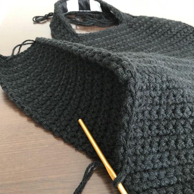 簡単 かぎ針 編み バッグ