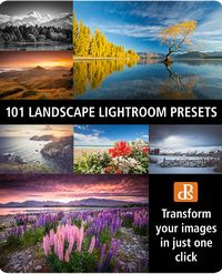 """Mega pack of 101 Landscape Lightroom presets, enhancing your landscape shots is a breeze.  In this massive presets back you'll get:  6 high quality preset collections Save time getting your landscapes looking just right Streamline your workflow Use the presets the professionals use to create stunning images Give your photos an instant """"pop""""' BONUS Tool Box: 29 presets designed to be stackable for making simple adjustments. [affiliate]"""