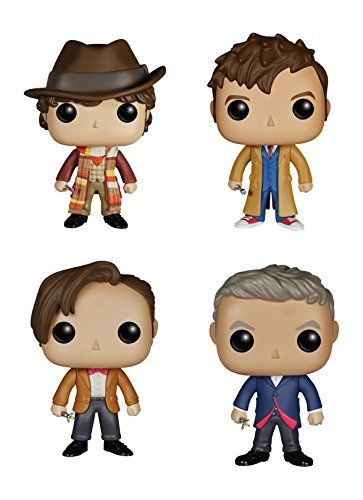 Funko Doctor Who POP! TV Vinyl Collectors Set: Fourth Tenth Eleventh Twelfth Doctor Action Figure @ niftywarehouse.com #NiftyWarehouse #DoctorWho #DrWho #Whovians #SciFi #ScienceFiction #BBC #Show #TV