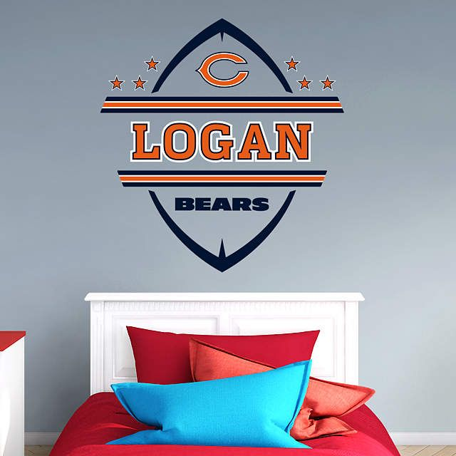 The Chicago Bears Personalized Name wall decal from Fathead is a great way to personalize young Chicago Bears fan's bedroom.