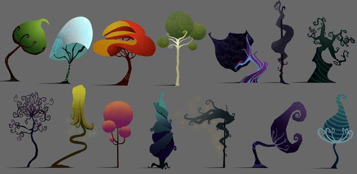 Trees, Ophélia Rintz Alfonsi on ArtStation at https://www.artstation.com/artwork/V0NE5