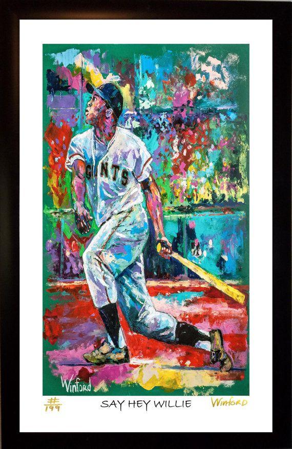 70% SALE  Willie Mays Fine-Art LIMITED Editon Framed by WinfordArt