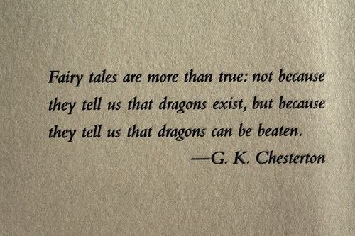 GK Chesterson is so right.  Indeed.