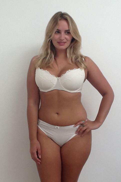 Anden white lingerie mini