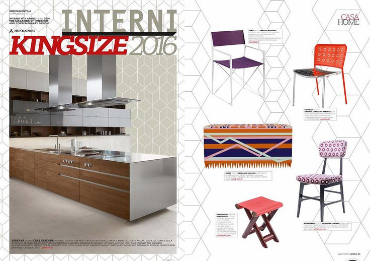 #Virna chair, #Novecento collection, design by #ValentinaFontana for #altreforme, published on #Interni Kingsize, #Italy, april 2016, #interior #home #decor #homedecor #furniture #aluminium #woweffect #madeinItaly