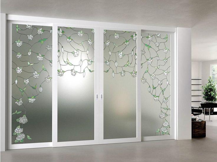Puerta corrediza de vidrio ARIANNA Colección Elegance by FOA