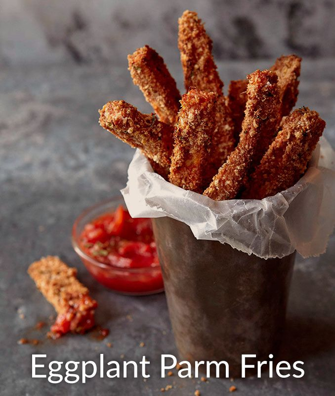 Move over, potatoes! These eggplant parm fries are super shareable.