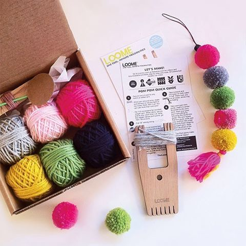 Our BRIGHT fiber craft #betterwithapompom kit. #diykit #fibercrafttool…