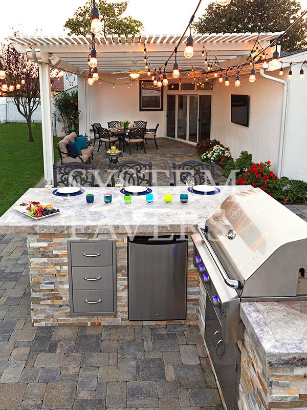 Bbq island for the bar pinterest backyards islands for Backyard built in bbq ideas